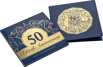 2019 Royal Australian Mint 50th Anniversary Fifty Cent 50c Five Coin Set