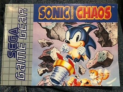 SEGA Game Gear game Sonic the Hedgehog Chaos Booklet only