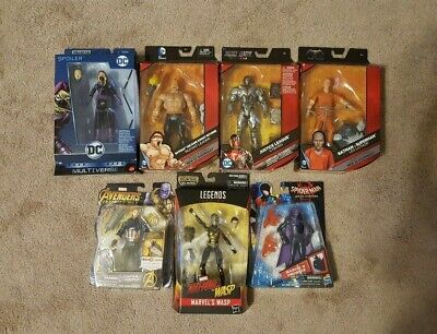Marvel and DC Action Figures - Mixed Lot of 7 - NEW SEALED