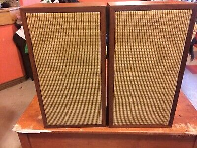 """Pair Knight Kn 3005 Speakers-10"""" 3 Way-Vgc-New Grills-100% Working-30 Day Return"""