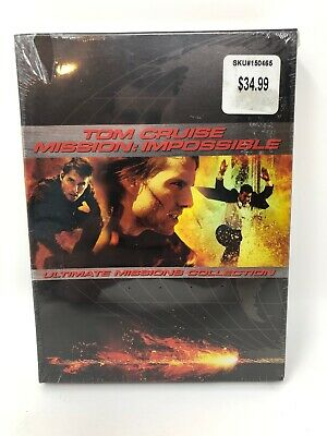 Mission: Impossible 1, 2 & 3 DVD - Ultimate Tom Cruise Movie Collection Set, NEW
