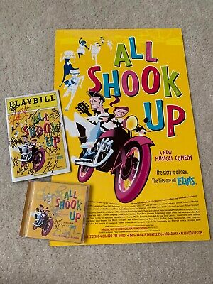 Entertainment Memorabilia All Shook Up Signed Playbill Cast X20 Autographed Broadway