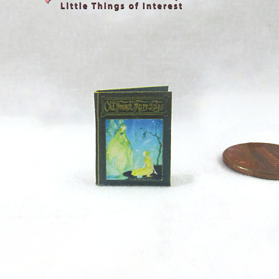 OLD FRENCH FAIRY TALES Illustrated Miniature Book Dollhouse 1:12 Scale Book