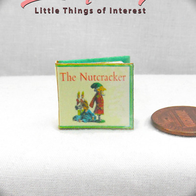 THE NUTCRACKER Miniature Book Dollhouse 1:12 Scale Readable Illustrated Book