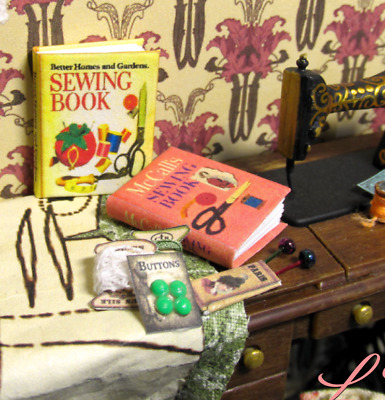 McCALLS SEWING BOOK Miniature Book Dollhouse 1:12 Scale Illustrated Book 1 inch