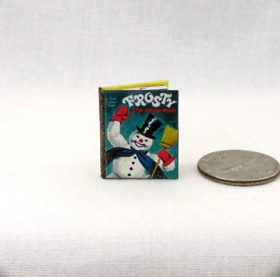 FROSTY THE SNOW MAN Illustrated Readable Miniature Book Dollhouse 1:12 Scale