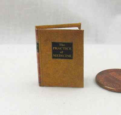 THE PRACTICE OF MEDICINE Miniature Book Dollhouse 1:12 Scale Illustrated Book
