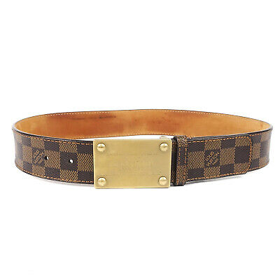 e8a3d42fd9c0 Authentic LOUIS VUITTON Damier Ceinture Inventeur Belt 80 32 M6810U Used F S