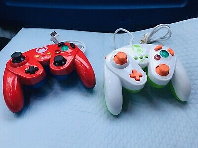 Mario And Yoshi Edition PDP Wired Fight Pad Controller Nintendo Wii & Wii U