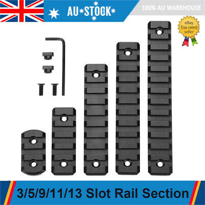 5Pc M-LOK Rail Section Slot Aluminum Alloy Picatinny Weaver Rail Set Accessories