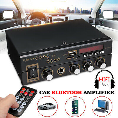 600W Digital HiFi bluetooth Audio Stereo Amplifier USB AMP SD FM Mic Home & Car