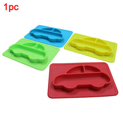 Non-slip Silicone Cute Tray Dining Plate Food Car Model One-Piece Mat Tableware