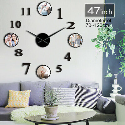 Personalized 3D DIY Arylic Wall Clock with Prints with Your Family Portrait Gift