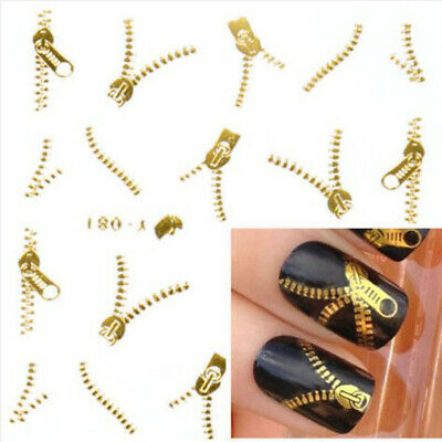 3D Nail Art Tips Stickers Decal Gold Silver Wraps Acrylic Manicure Decorations