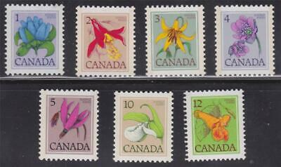 Canada 1977-82 - #705-12 Floral Definitives (set of 7) - MNH