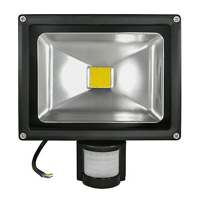 8x Cob LED Projecteur Projecteur LED LED Lampe 20 Watt Ww 180° Pir