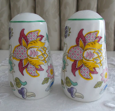 Minton Haddon Hall Salt & Pepper Cruet Set First Quality Romany with stoppers