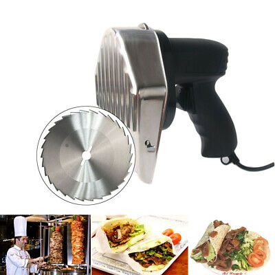 Auto Electric Shawarma Cutter Slicer Knife Gyro Doner Kebab Meat Cutter