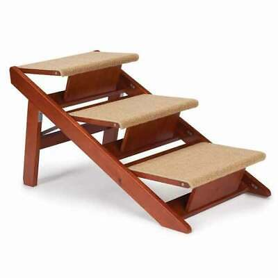 Dog Cat Steps and Ramp Steps Convert into a Ramp Can Be Folded Flat For Storage