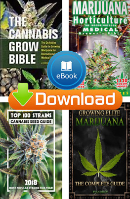 Cannabis Grow Bible Set, Medical Marijuana Growers Book, Growing Elite Marijuana