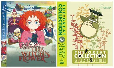 DVD Anime Mary And The Witch's Flower + Studio Ghibli 23 Collection Eng Dubbed