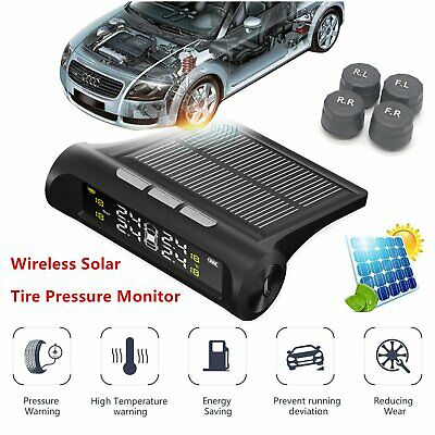 Wireless Solar Car Tire Pressure Monitoring System TPMS With 4 External Sensors