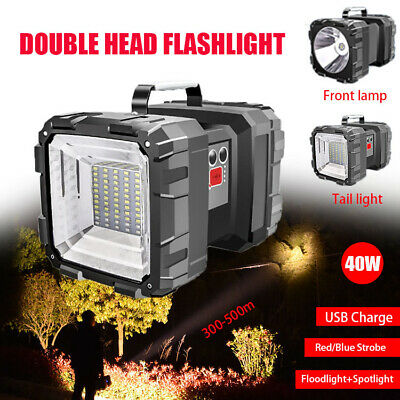 LED Handheld Spotlight USB Rechargeable Hunting Flashlight Torch Spot Light AU