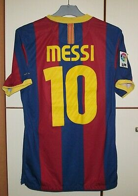 2f0ac172540 FC Barcelona 2010 - 2011 Home football shirt jersey Camiseta Nike #10 Messi  S