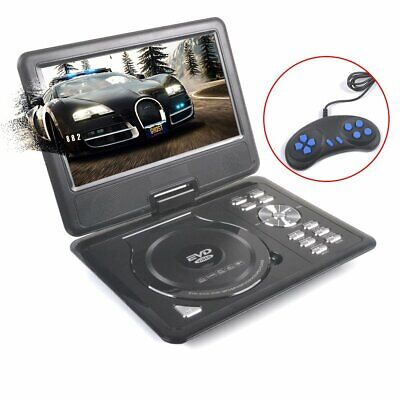 "Portable 9"" DVD Player 270° Swivel Screen Free 300 Games Disc Reader With Remote"