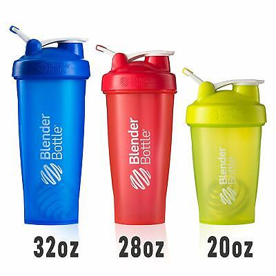 BlenderBottle Classic Shaker Cup with Wire Whisk Carrying Loop 20/28 OZ