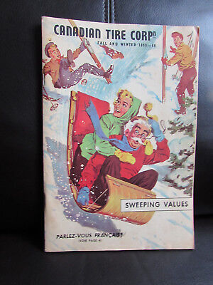 """RARE CANADIAN """"CANADIAN TIRE CORP. 1959-60 Fall & Winter CATALOGUE - EXCELLENT"""