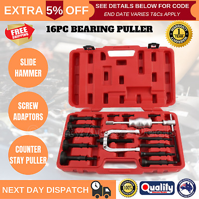 16Pcs Inner Bearing Races Bushes Extractor Blind Hole Gear Puller Separator Kit