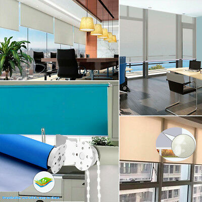 Blinds Window Velvet Crushed Easy Fit Trimmable Roller Blinds Made To Measure UK