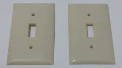 2 Vintage Sierra Electric Company Ivory Bakelite Switch Covers Plates