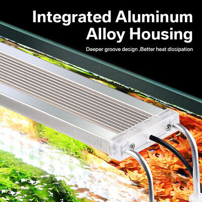 LED Aquarium Light Aquatic Plant Weed Grass Aluminum Alloy Full Spectrum Lamp Ba
