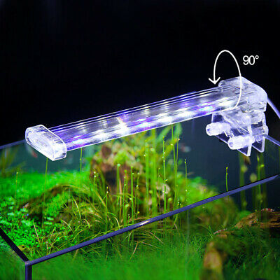 LED Aquarium Aquatic Plant Light Clip On Fish Tank Weed Coral Reef Clamp Lamp Ba