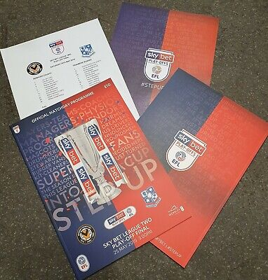 SKYBET LEAGUE 2 Play-off Final NEWPORT COUNTY vs TRANMERE Programme 25/05/2019!