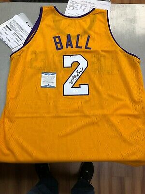 608503e4ddc4 Lonzo Ball Signed Los Angeles Lakers Jersey (Beckett COA) Autographed Auto