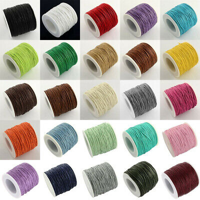 100yds 1mm Cotton Waxed Cotton Cord Beading Macrame DIY Shamballa String Thread