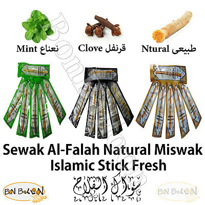 Sewak Miswak siwak Natural Mint Clove Herbal Toothbrush islamic stick Fresh
