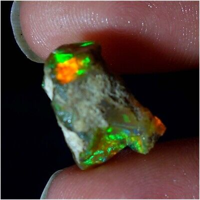 08.20Cts.Natural Welo Fire Ethiopian Opal Rough Gemstone 10x16mm