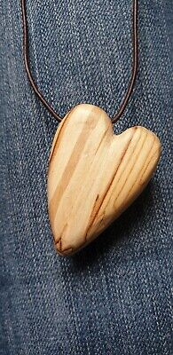 M91 Hand Carved Wood Cut Out Leaf Pendant Teal 51x30mm Pack of 1