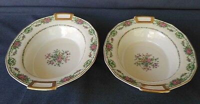 CH Field Haviland Limoges Finest French Ivory China Oval Serving Bowls Set of 2