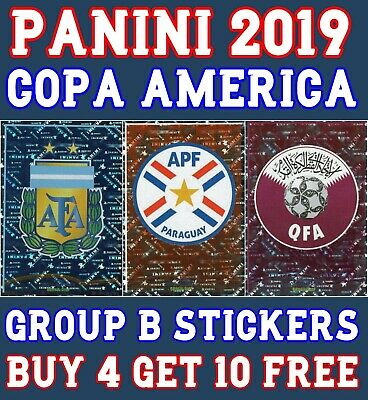 Panini Copa America Brasil 2019 Stickers - Group B Stickers - Buy 2 Get 10 Free