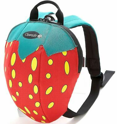 Clippasafe TODDLER DAYSACK WITH DETACHABLE LEAD REINS Backpack Baby strawberry