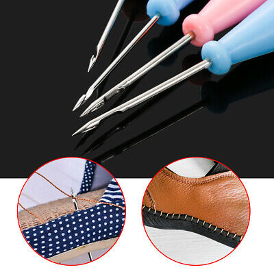 Handmade Hand Stitcher Taper Sewing Awl Shoes Repair Tool Leather Craft Needle