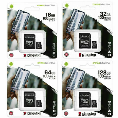 Micro SD Kingston Canvas Select 16 GB 32 GB 64 128 GB Classe 10 Microsd memoria