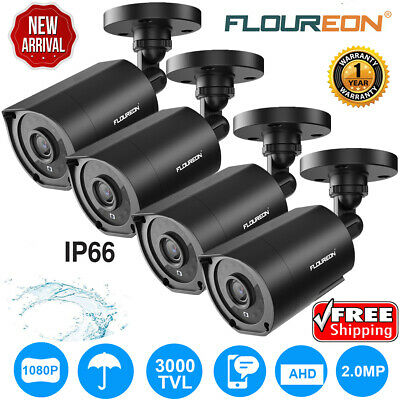 4x 1080P HD CCTV IP Camera 3000TVL 2MP Outdoor Security Night Vision Waterproof