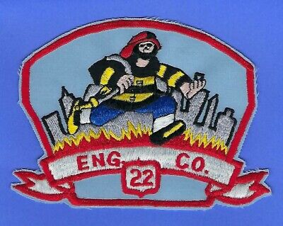 New York City Fire Department Engine 22 Company Patch ~ Rare & Very Hard-To-Find