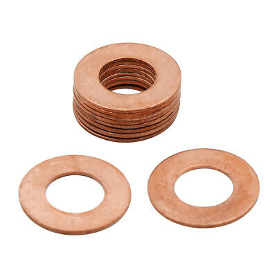 10pcs 12mm Inner Diameter Copper Washers Flat Sealing Gaskets Ring